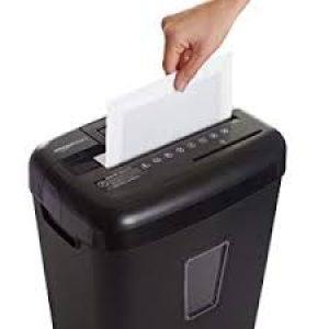 un exemple de destructeur de papier tranchant